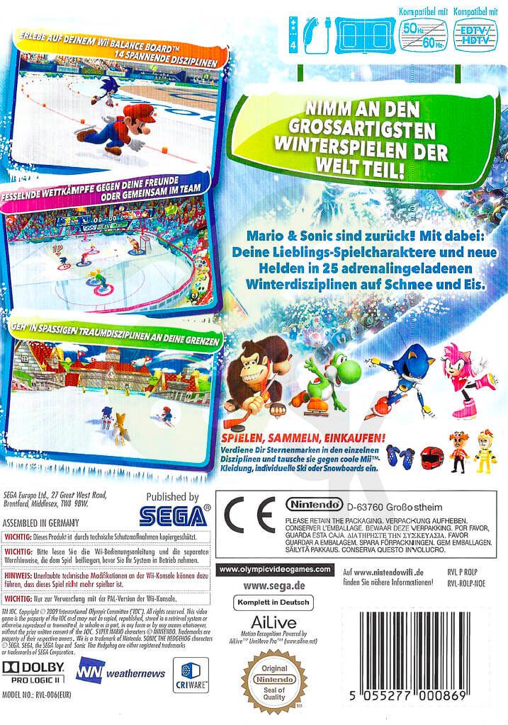 Mario Sonic Bei Den Olympischen Winterspielen Spiele Und Konsolen
