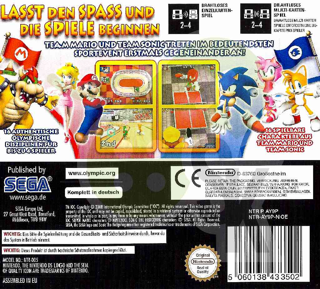Mario Sonic Bei Den Olympischen Spielen Spiele Und Konsolen
