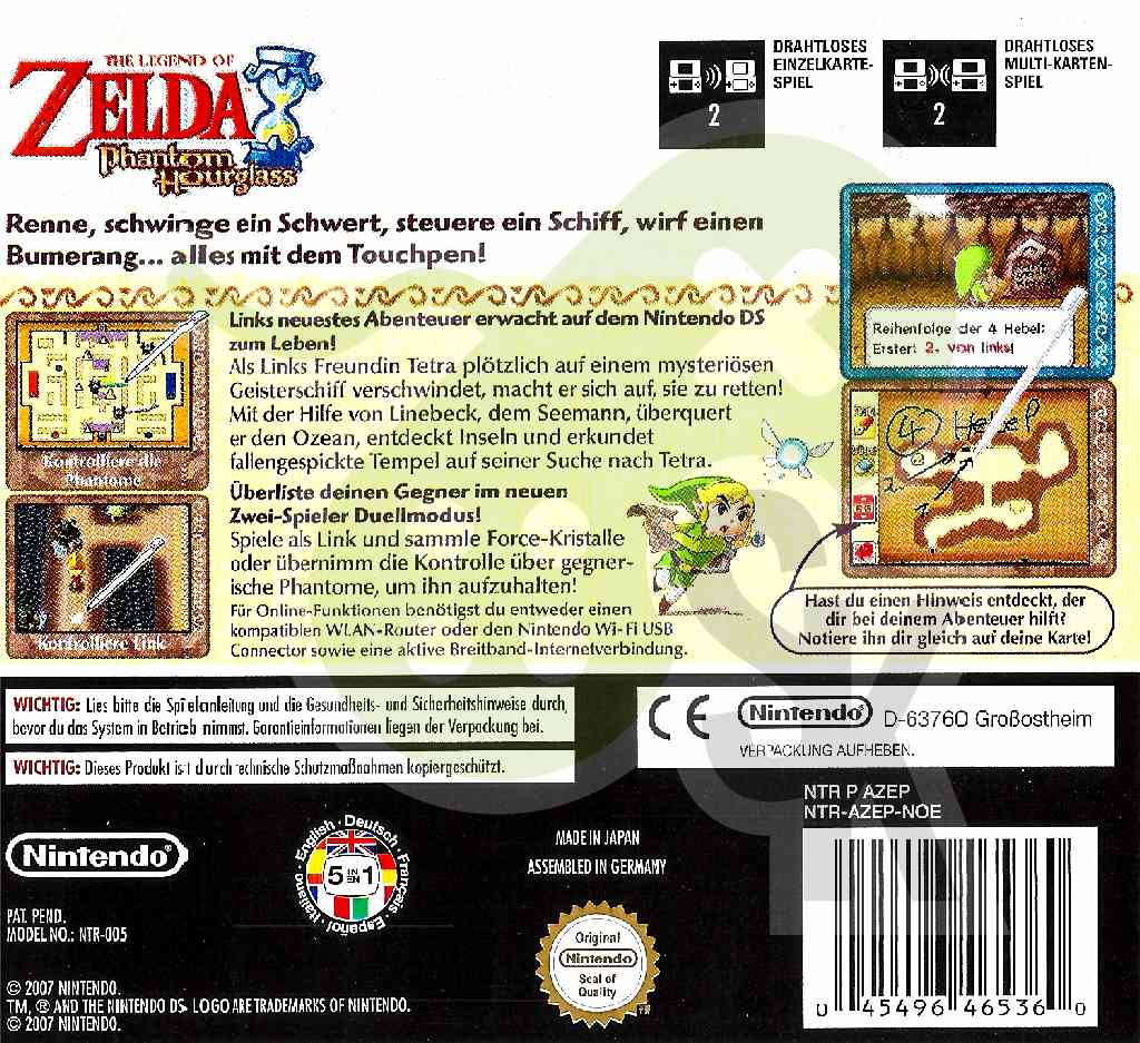 the legend of zelda phantom hourglass spiele und konsolen. Black Bedroom Furniture Sets. Home Design Ideas